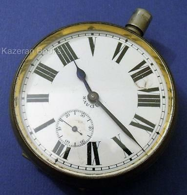 Vintage Goliath 8 DayNickel Case Fob Pocket Watch Spares Or Repair