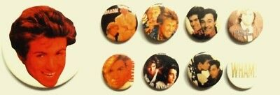 GEORGE MICHAEL x 5 badges ORIGINAL '80's + a plastic keyring
