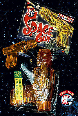 SPACE GUN 70er X RAY GUN SPARKING FRICTION POWERED FUNKENSPRÜHER SCIENCE FICTION