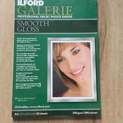 Ilford Galiere Smooth Gloss A3 Photographic Paper