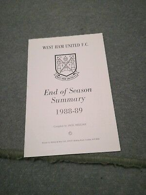 West Ham United Results Summary For 1988/89