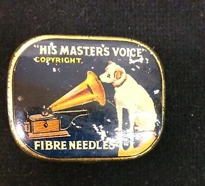 "Gramaphone Co Tin With ""His Master's Voice"" Unused Fibre Needles"