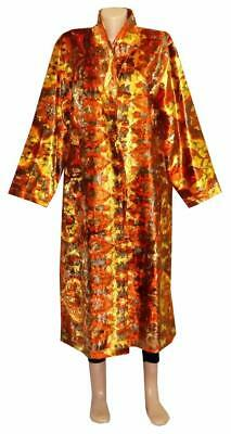 Cozy Autumn Winter Uzbek Robe Jacket Chapan  Hand Printed Silk Velvet A10793