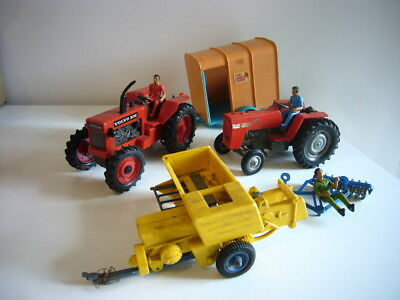 Britains: job lot of tractors, machinery & figures for spares etc, made England