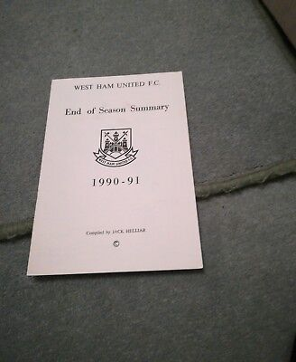 West Ham United Results Summary For 1990/91