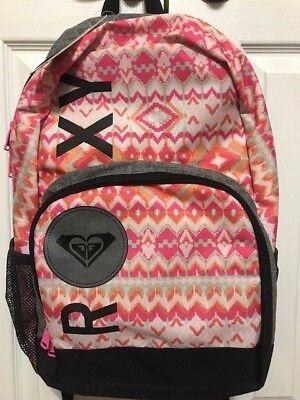 NWT Roxy  Pink Logo School Backpack Book Bag Full Size NEW