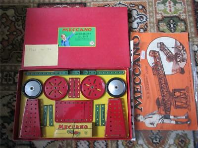 VINTAGE MECCANO MEDIUM RED/GREEN No. 3a ACCESSORY OUTFIT - BOXED, CARDED c1946!