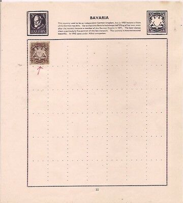 BAVARIA stamp on an album page.