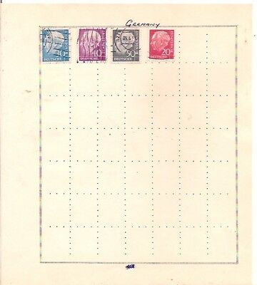 4 GERMANY stamps on an album page.