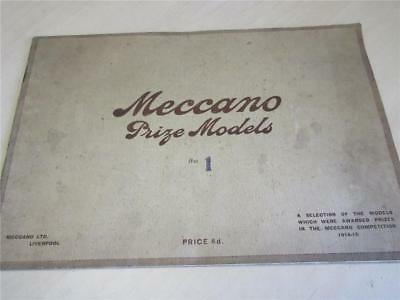 ANTIQUE MECCANO PRIZE MODELS BROCHURE, BOOK dated 1915 - Inventors Outfit!