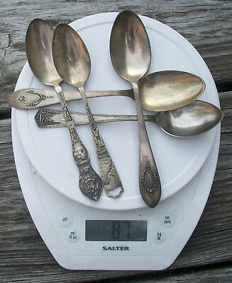 Vintage Lot of Sterling Silver Spoons 87 g grams Use or Scrap NR