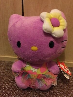 Beanie Babies Original Purple Hello Kitty Plush Toy BNWT 6 Inches