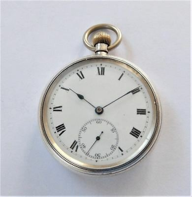 1917 Silver Borgel Cased 15 Jewelled Swiss Lever Pocket Watch Ss&co Working