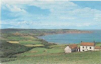Rare Postcard - View From Ravenscar - Robin Hoods Bay - Yorkshire C.1978 Whitby