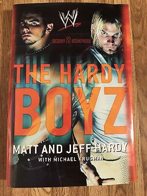 Wwf-Wwe- The Hardy Boyz--Matt & Jeff Hardy--Hardcover Book W/ Dust Jacket