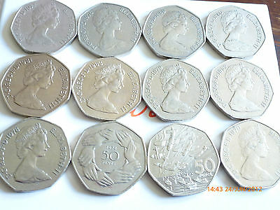 BIRTH YEAR LARGE/OLD 50p COIN HUNT 1969 1970 1985 1994 YOUR CHOICE  FREE POST@@