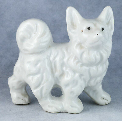 Vintage Porcelain 2.25 Inch Keeshond Figurine Gloss Finish Made In Japan