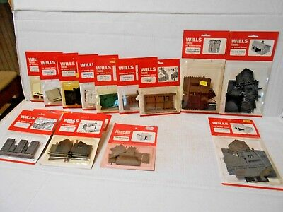 Wills - Finecast, Scenic Series Kits, 15 Kits, Oo Scale, Nib