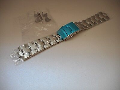 22mm Curved End OYSTER Solid Stainless Steel Watch bracelet, Band 7S26-0040