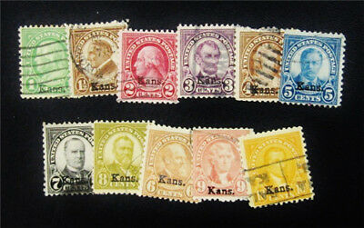 nystamps US Stamp # 658-668 Used $174
