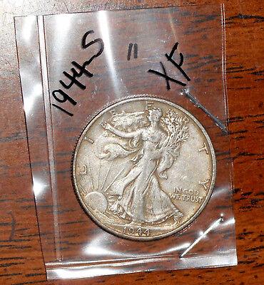 """1944-S Silver Walking Liberty Half Dollar - Grades """"extremely Fine"""""""