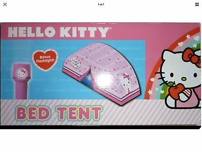 Hello Kitty bed tent and flashlight Sassy Slumber NIB childs toy play tent