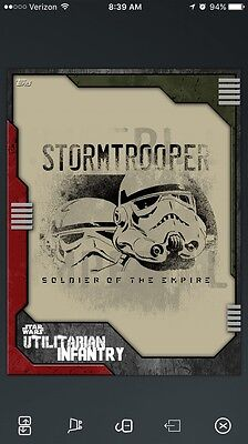 Topps Star Wars Red Stormtrooper Soldier The Empire Utilitarian Infantry 128cc