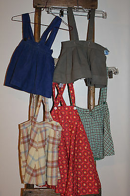 Lot of 5~VINTAGE~1950s?~LITTLE Girls~JUMPERS~Skirts~DRESSES~Wool~CORDUROY~Cotton