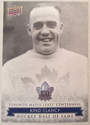 2017 King Clancy Ud Toronto Maple Leafs Centennial Hockey Hall Of Fame Sp #150