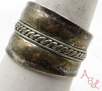 Sterling Silver Vintage 925 Modernist Bangle Ring Sz 8.5 (3.4g) - 575054