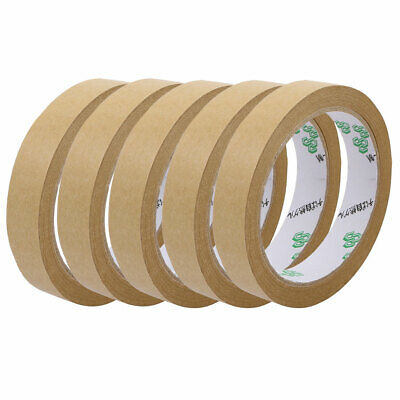 5pcs 18mmx23M Seal Pack Hot Melt Adhesive Electrical Insulation Tape Tawny