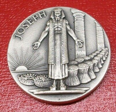 12 Tribes of Israel (Joseph) Medal by Medallic Art Co. 2.15 Troy Oz.999 Silver