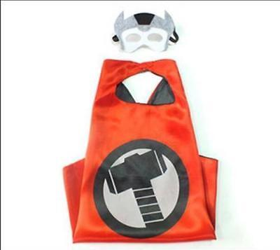 New Superhero Cape (1 cape+1 mask) for kids birthday party favors and ideas Thor