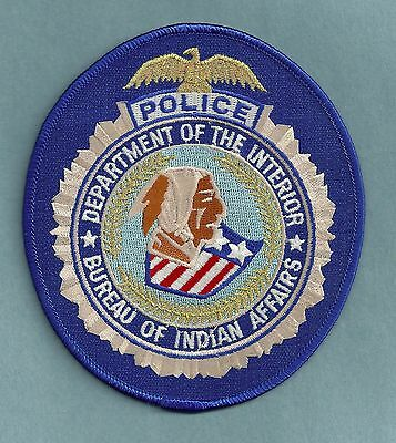 Department Of The Interior Bia Bureau Of Indian Affairs Tribal Police Patch