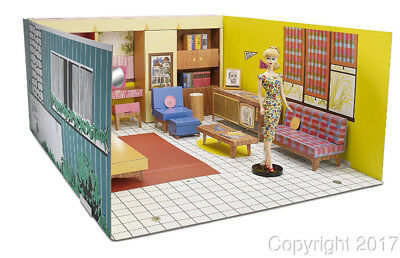 1962 Barbie Dream House Vintage Reproduction with Doll NEW for 2017! IN STOCK