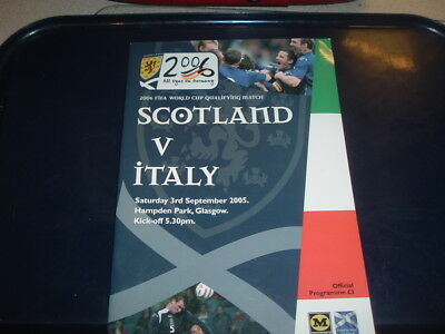 Scotland v Italy Sept 2005 World Cup Qualifier