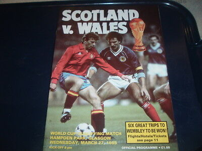 Scotland v Wales March 1985 World Cup Qualifier