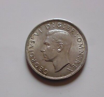 British Coin 1943 George Vi Florin/two Shillings
