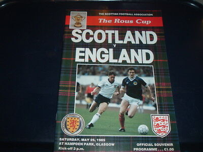 Scotland v England May 1985 Rous Cup