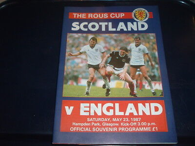 Scotland v England May 1987 Rous Cup
