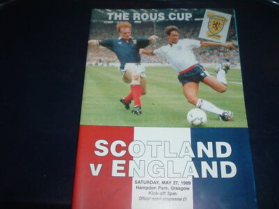 Scotland v England May 1989 Rous Cup