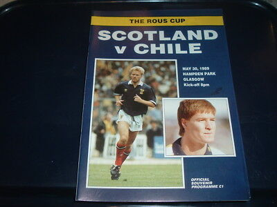 Scotland v Chile May 1989 Rous Cup