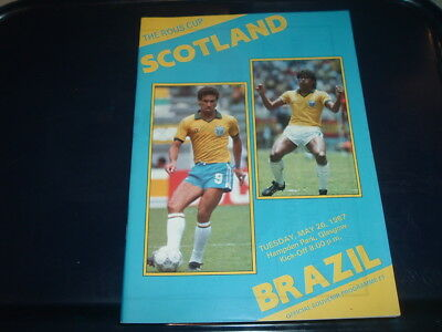 Scotland v Brazil May 1987 Rous Cup
