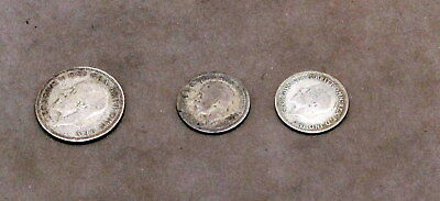 ONE SHILLING & TWO SIXPENCES GEORGE V  1928 to 1935
