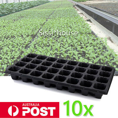 10x 32 Cell Seedling Starter Trays Seed Germination Garden Plant Propagation Pot