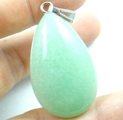 Unique aventurine agate Water drop Gem Pendant Beads necklace Jewelry