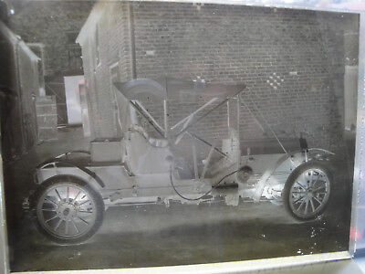 3x Antique Glass Negative Plates  OLD CARS