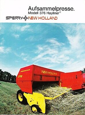 Sperry New Holland (~1974) Modell 376 Hayliner, Prospekt (Original)