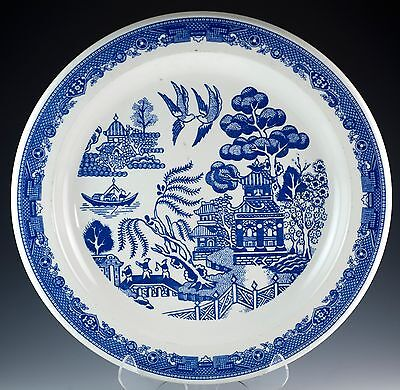 "Vintage Buffalo China Restaurant Ware Blue Willow 10.25"" Recessed Plate c.1980"