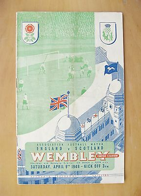ENGLAND v SCOTLAND 1949 *VG Condition Football Programme*